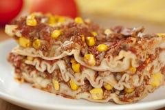 Lasagne mit Fleisch Stockbild