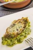 Lasagne mit Gemüse Stockfotografie