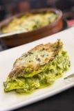 Lasagne mit Gemüse Lizenzfreies Stockbild