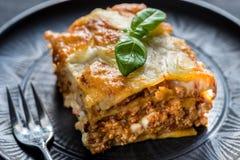 Lasagne mit pesto Lizenzfreie Stockbilder