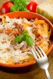 Lasagne mit ragu Stockfoto