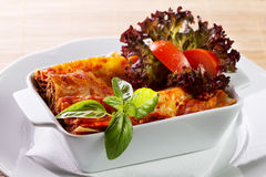 Lasagne Fotografie Stock Libere da Diritti