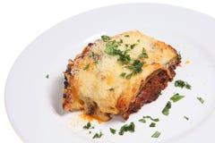Lasagne-oder Lasagne-Mahlzeit lizenzfreies stockfoto