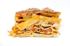 Lasagne seitlich Lizenzfreie Stockfotografie