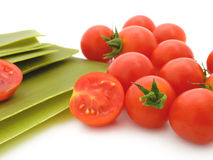Lasagne sheets with tomatoes Stock Photos