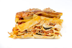 Lasagne sideways Royalty Free Stock Photography