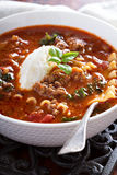 Lasagne soup with ground beef Royalty Free Stock Photography