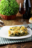 Lasagne with spinach and ricotta Stock Photo