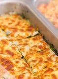 Lasagne-Spinat. stockfotografie