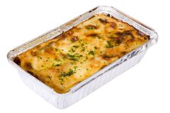 Lasagne traditionnel Photographie stock