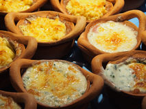 Lasagne und gebackener Spinat mit Käse Lizenzfreie Stockbilder
