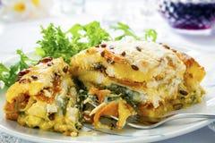 Lasagne végétarien images libres de droits