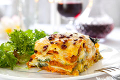 Lasagne vegetariano immagine stock