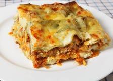 Lasagne verde slice Royalty Free Stock Images