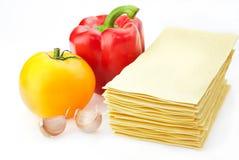 Lasagnebestandteile Stockfoto