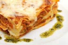 Lasagnefleisch Stockbild