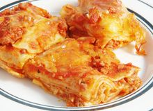 Lasagneteigwaren Stockbild
