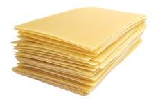 Lasagneteigwaren getrennt auf weißem Hintergrund lizenzfreie stockbilder