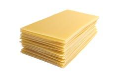 Lasagneteigwaren getrennt auf weißem Hintergrund lizenzfreies stockfoto