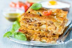 Lasagnezeit Stockbilder