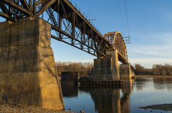 LaSalle Rail Bridge. Stock Photos