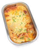 Lasanga in Foil Container Royalty Free Stock Photography