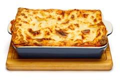 Lasanhas no prato do cozimento Imagem de Stock