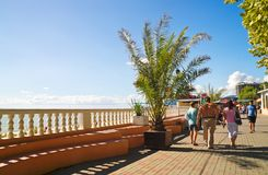 Lasarevskoye promenade of the resort in the Krasnodar region Royalty Free Stock Photos
