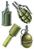 Lasca do detonador da caixa de munição da granada ilustração royalty free