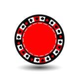 Lasca o vermelho para o pôquer um ícone no fundo isolado branco Ilustração EPS 10 Para usar os Web site, projeto, a imprensa, Imagens de Stock Royalty Free