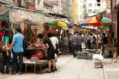 Lascar Row. Of hong kong, many old and traditional stuff can be found here royalty free stock photography