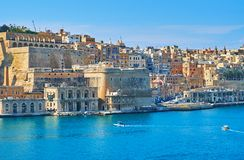 Lascaris Bastion of Valletta fortification, Malta stock photos