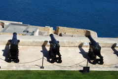 Lascaris Saluting Battery. The Lascaris Battery is an artillery battery in Malta. The installation is located on the east side of Valletta and is connected to Royalty Free Stock Photos