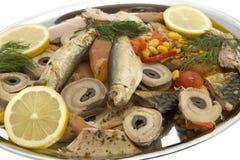 Lasche mit geräucherten Fischen Lizenzfreie Stockfotografie
