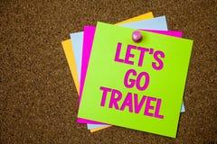 Lascia \ 'di rappresentazione del segno del testo S va viaggio Foto concettuale che va via viaggiare chiedendo a qualcuno di anda fotografia stock libera da diritti