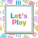 Lascia i quadrati astratti variopinti del gioco Fotografia Stock