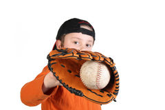 Lascia il baseball del gioco Fotografie Stock