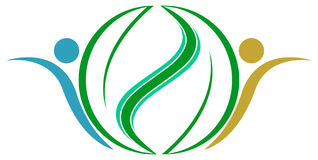 Lascia il logo Immagine Stock