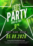 Lascia il manifesto di progettazione del partito Modello dell'aletta di filatoio del night-club Invito del partito di musica dal  Fotografia Stock Libera da Diritti
