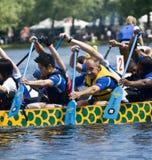 Lascia insieme la corsa di barca del drago del dispersore DBC Fotografia Stock