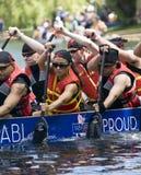 Lascia insieme la corsa di barca del drago del dispersore DBC Fotografie Stock