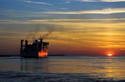 Lasciare il porto Immagini Stock Libere da Diritti