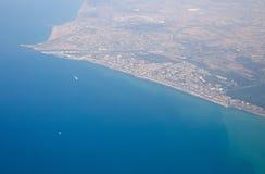 Lasciare l'Italia: Mar Mediterraneo Fotografia Stock Libera da Diritti
