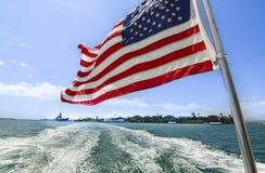 Lasciare Pearl Harbor Fotografia Stock