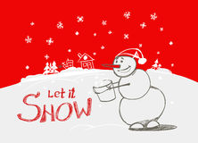 Lasciate esso nevicare! Immagine Stock