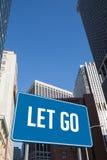 Lasciato andare contro New York Fotografia Stock Libera da Diritti