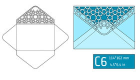 Lase Envelope Template A Stock Photography
