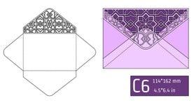 Lase Envelope Template A Royalty Free Stock Photo