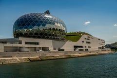 LaSeine Musicale eller stad av musik på den Seguin ön i Boulognesom söder-är västra av Paris Arkivfoto