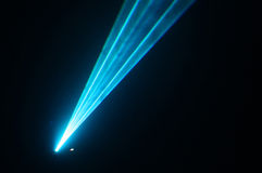 Laser. A beam of blue laser royalty free stock photo